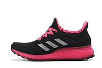 Кроссовки для бега женские Adidas Ultra Boost FutureCraft 3D Black Pink