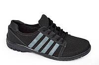 Четыре в одном стильные удобные мокасины,кроссовки,кеды,спортивные туфли летние сетка прошиты черные, фото 1