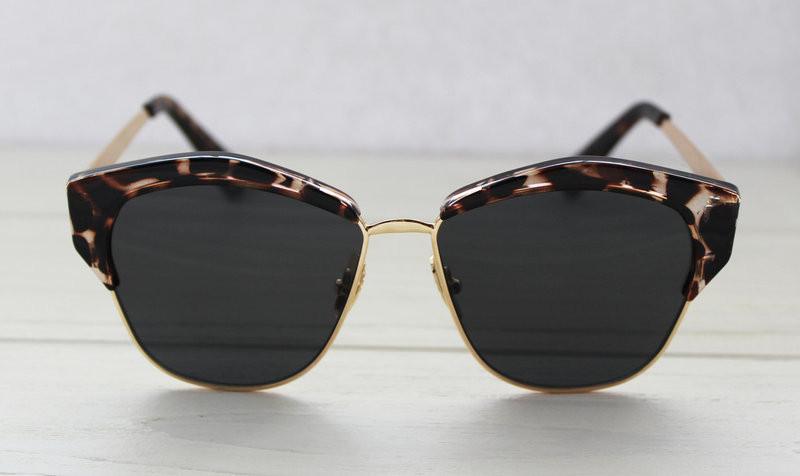 Леопардовые фигурные солнцезащитные очки для женщин
