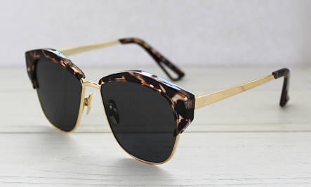 Леопардовые фигурные солнцезащитные очки для женщин, фото 2