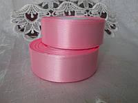 Стрічка атласна 2,5 см, світло-рожевий