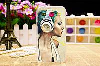 Оригинальный чехол для Samsung Galaxy Star Advance G350 с картинкой девушка в наушниках