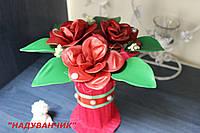 Букет червоних троянд з ненадутих (повітряних) кульок!