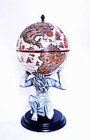 """Глобус-бар напольный """"Atlas"""" 42016B-WW слоновая кость"""