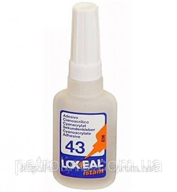 Моментальный клей LOXEAL ISTANT-43S, для кислотных поверхностей и пористых материалов, 20 мл