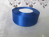Стрічка атласна 2,5 см, синій