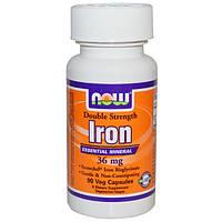 Железо хелат  36 мг 90 капс для повышения гемоглобина лечение анемии укрепления иммунитета Now Foods USA