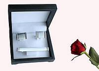 Запонки и зажим для галстуков набор artnab-011