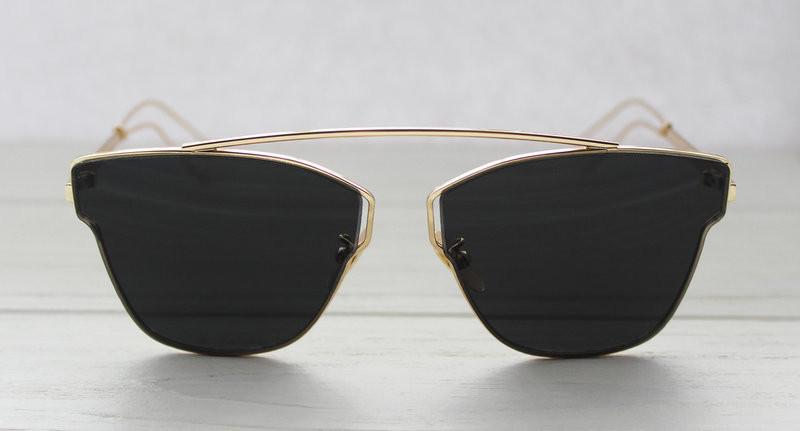 Солнцезащитные очки для женщин уникальной формы с зеркальными линзами