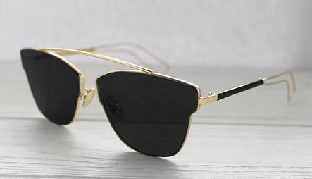 Солнцезащитные очки для женщин уникальной формы с зеркальными линзами, фото 2