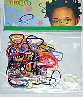 Цветные силиконовые Резинки для волос (12 пакетиков)
