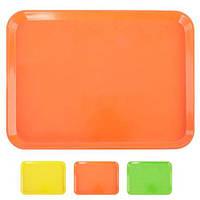 Поднос меламиновый раздаточный 24*38 см (разные цвета)