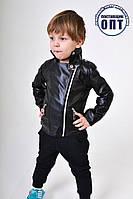 Детская курточка из эко кожи для мальчика