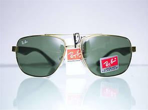 Классические солнцезащитные очки-авиаторы с фигурной дужкой Ray Ban