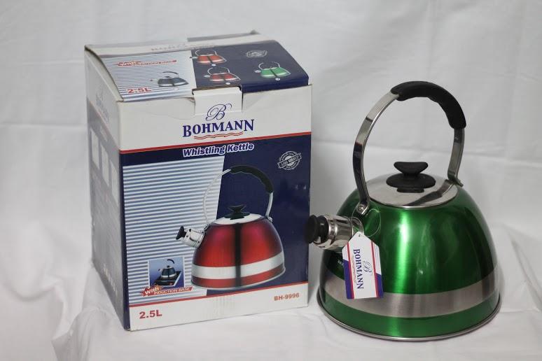 Чайник Bohmann 9996, 2,5 л, нержавіюча сталь