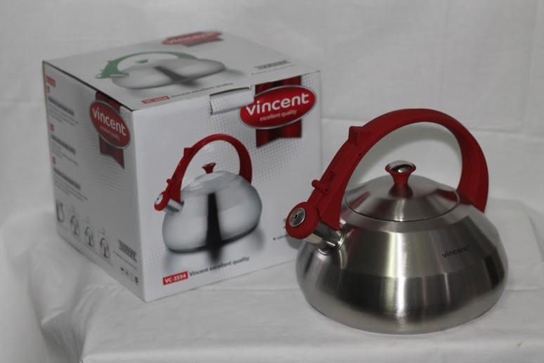 Чайник Vincent VC-3554, 2.8 л, нержавеющая сталь