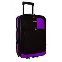 Чемодан сумка RGL 256 (небольшой) черно-фиолетовый