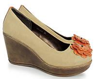 Стильные женские туфли 1301 Beżowy