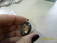 Кольцо с натуральным камнем лабрадорит в серебре