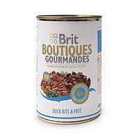 Brit Boutiques Gourmandes Duck Bits and Pate полноценный консервированный корм для собак с кусочками утки в паштете, 400г