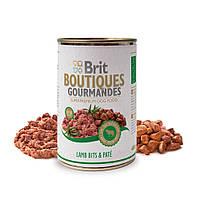 Brit Boutiques Gourmandes Lamb Bits and Pate полноценный консервированный корм для собак с кусочками ягненка в паштете, 400г
