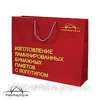 Бумажный пакет ламинированный 310*120*220 мм с ручками