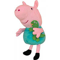 Peppa Pig Мягкая игрушка Peppa Pig Джордж с игрушкой, 30 см (25098)