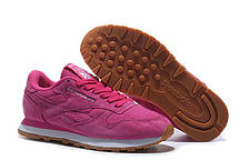 Женские кроссовки Reebok Classic Suede Pink. рибок классик суед, интернет магазин обуви