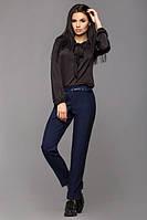 Женские прямые брюки Жасмин синие