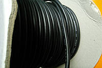 Кабель микрофонный 2жилы, диаметр 6мм (В-01), чёрный,круглый на катушке