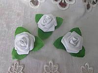 Головка троянди, 5 см, білий