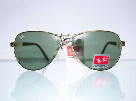 Брендовые солнцезащитные очки-авиаторы Ray Ban, фото 2