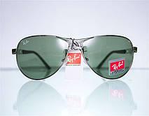 Брендовые солнцезащитные очки-авиаторы Ray Ban, фото 3
