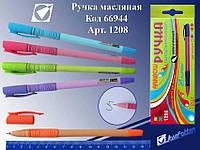 """Ручка масляная 1208 """"Радуга"""" корпус-микс цветов (синяя)"""
