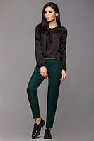Женские прямые брюки Жасмин зеленые