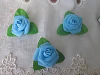 Головка троянди, 5 см, блакитний