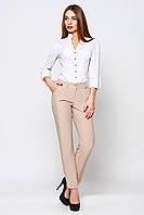 Бежевые прямые брюки Жанна