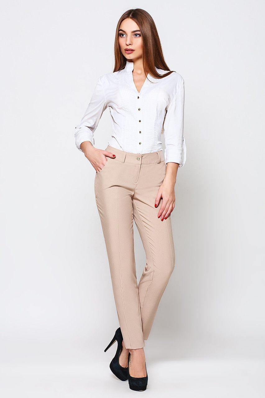 2cd2b7e0bfaf Бежевые прямые брюки Жанна