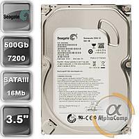 "Жесткий диск 3.5"" 500Gb Seagate ST500DM002 (16Mb/7200/SATAIII) БУ, фото 1"