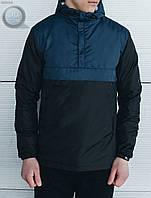 Весенне-осенняя куртка (анорак) Staff - Gravity Navy Black Art. MX0002 (тёмно-синий \ чёрный)