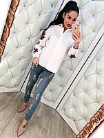 Женские модные джинсы с жемчугом, фото 1