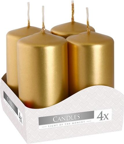 Свеча золотая 4х8 см (4шт)