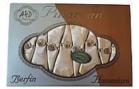 Скатерть Pinarcan Berfin Турция 160х220 + 8 салфеток с держателями Versace Золото, фото 1