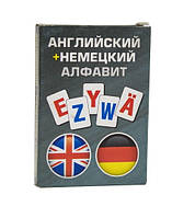 """Карточки обучающие """"Алфавит"""" (английский/немецкий)"""