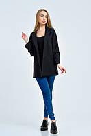 Черный пиджак в стиле casual Жасмин
