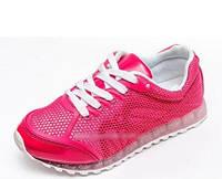 Кроссовки на девочку розовые прорезинненые