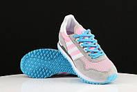 Кроссовки женские Adidas Originals ZX400 grey pink. сайт обувь интернет магаз, адидас ультра буст