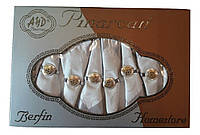 Скатерть Pinarcan Berfin Турция 160х220 + 8 салфеток с держателями Versace Серебро