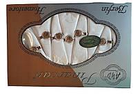 Скатерть Pinarcan Berfin Турция 160х220 + 8 салфеток с держателями Versace Молоко