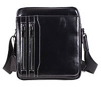 Оригинальная мужская кожаная сумка черная (Турция)